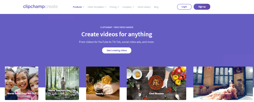 Clipchamp Best Free Video Editing Software online