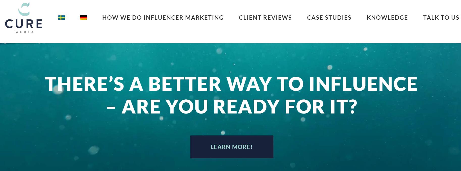 Cure Media Influencer Marketing Agency