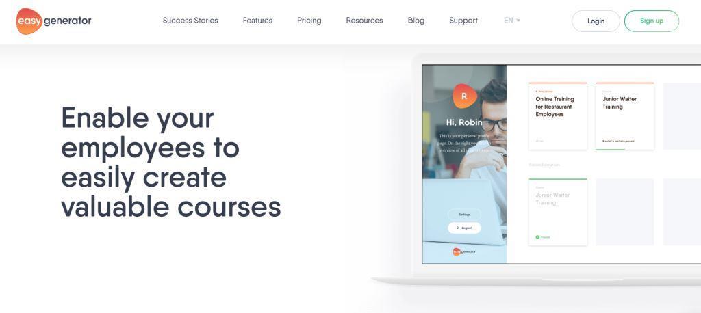 Easygenerator Best Online Course Platforms
