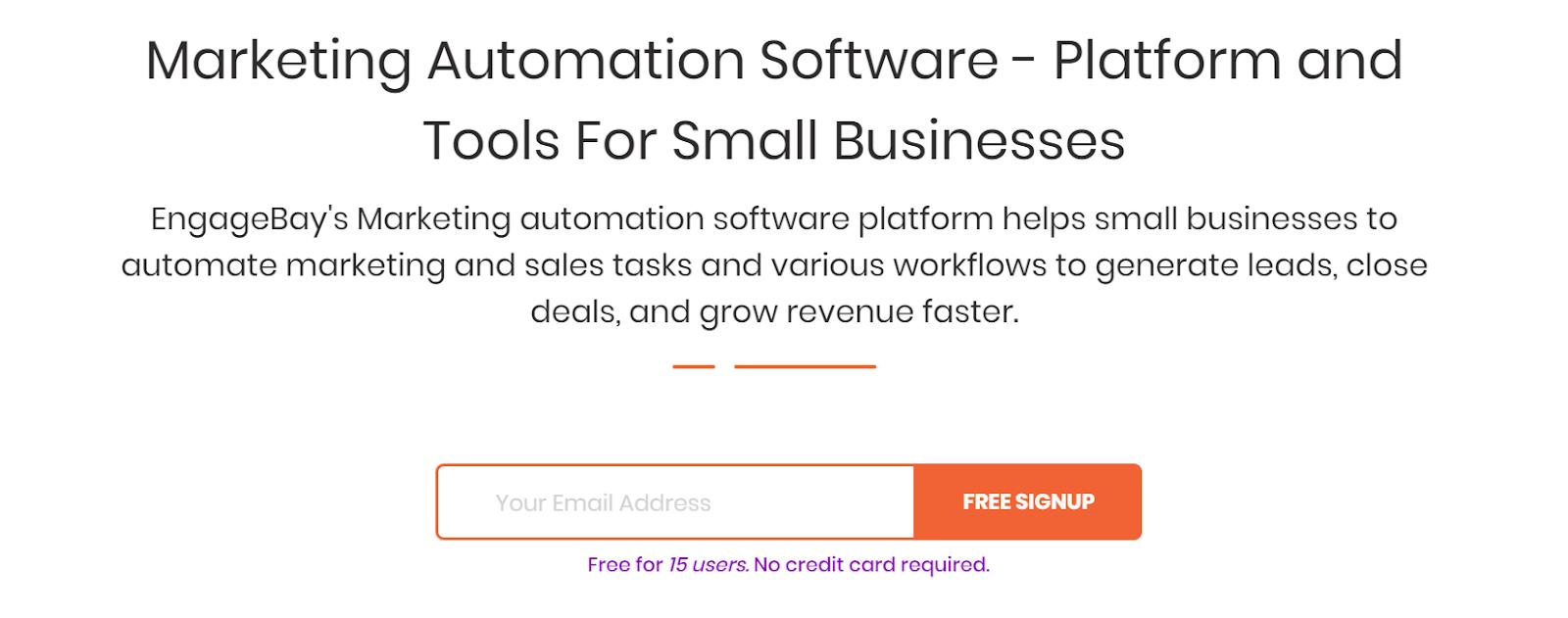EngageBay Marketing Automation Software