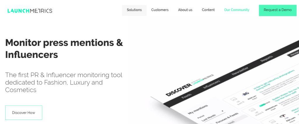 Launchmetrics Online PR Tool