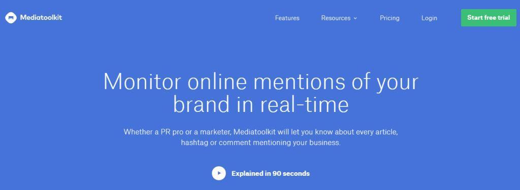 Mediatoolkit Online PR Tool