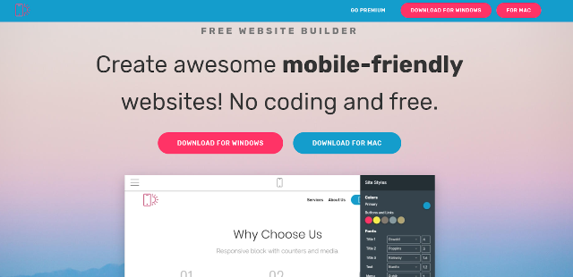 Mobirise Best Landing Page Builders
