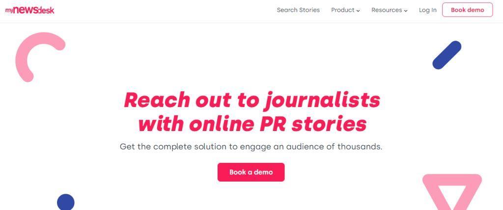 Mynewsdesk Online PR Tool