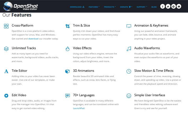OpenShot Best Free Video Editing Software online