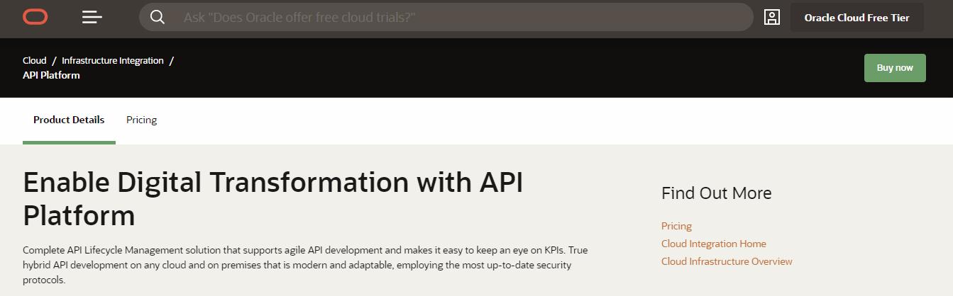 Oracle API Platform API Management Tools
