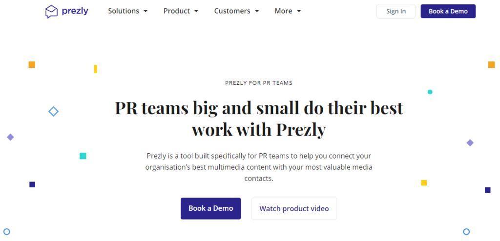 Prezly Online PR Tool