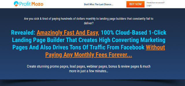 ProfitMozo Best Landing Page Builders