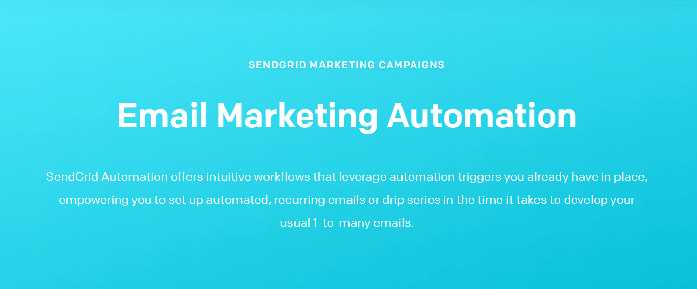 SendGrid Marketing Automation Software