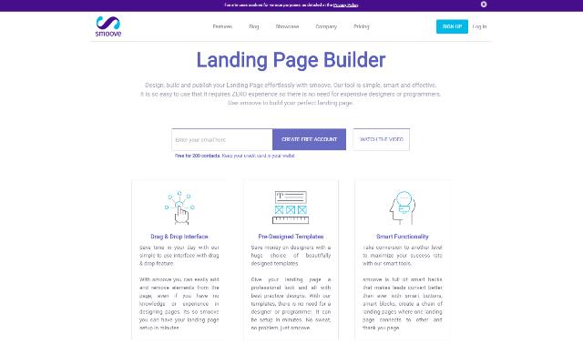 Smoove Best Landing Page Builders