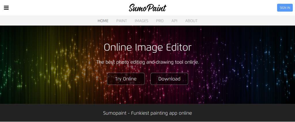 SumoPaint Best Photo Editing Software