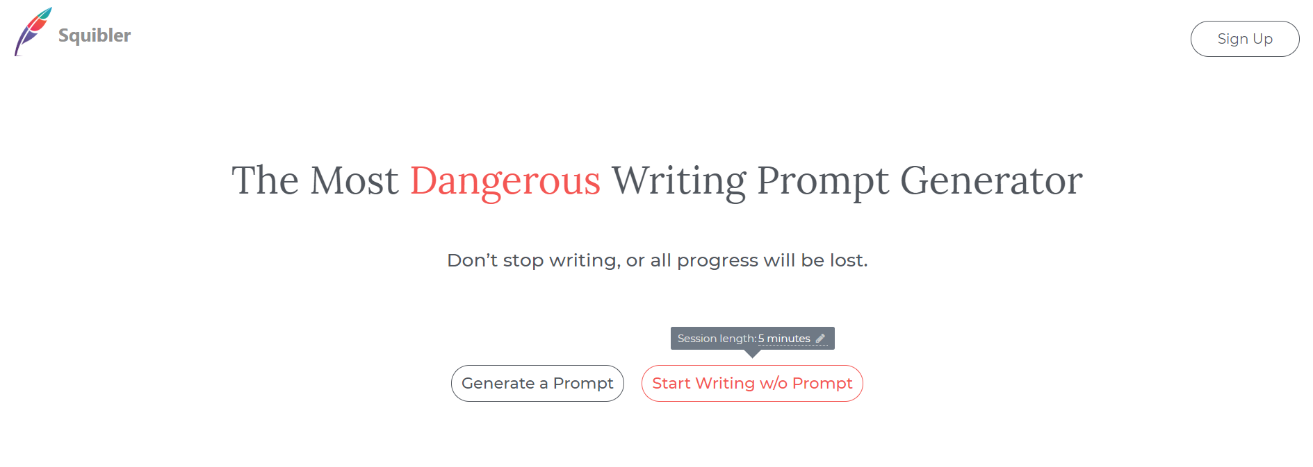 The Most Dangerous Writing App Squibler Content Writing Tool