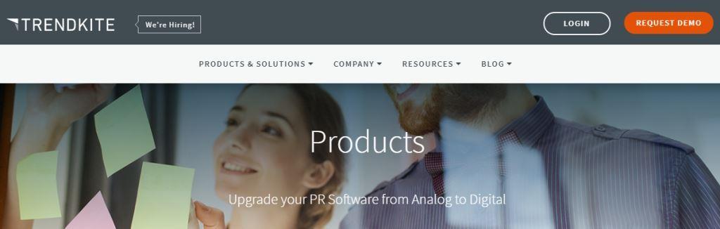 Trendkite Online PR Tool