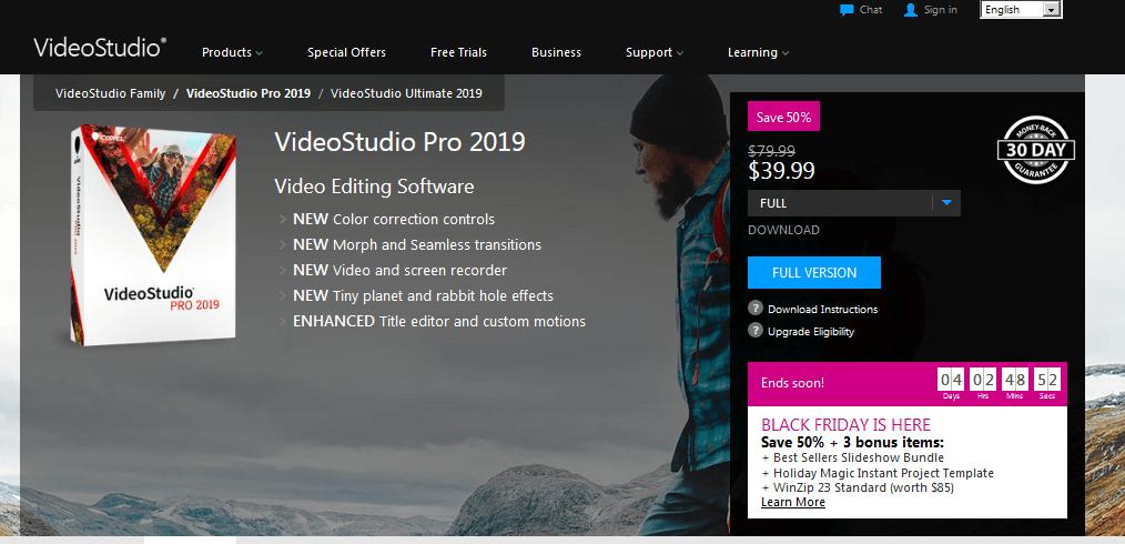 VideoStudio Pro 2019 Video Editing Software