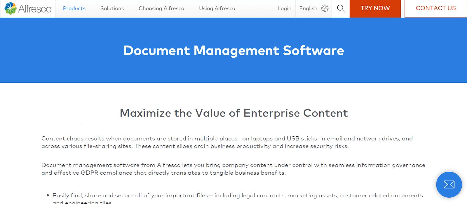 Alfresco Document Management Software