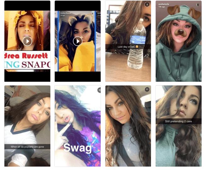 Andrea Russett Snapchat Influencer
