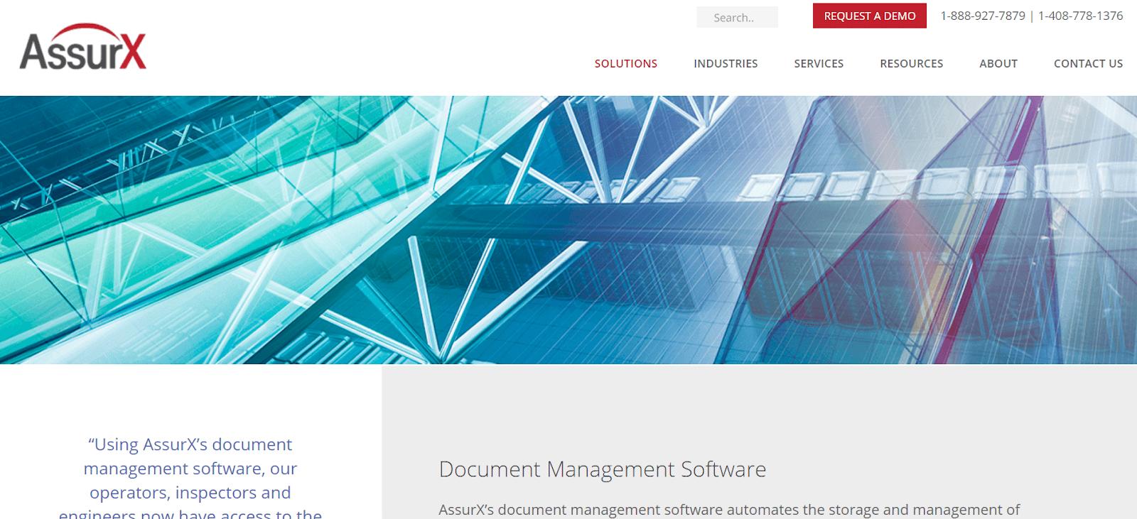 AssurX Document Management Software