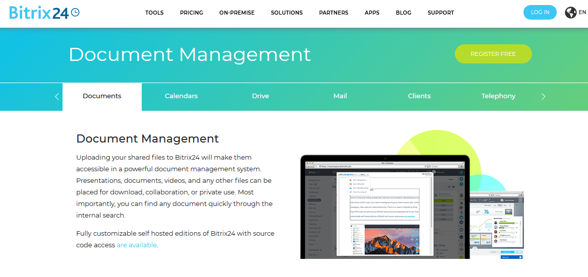 Bitrix24 Document Management Software