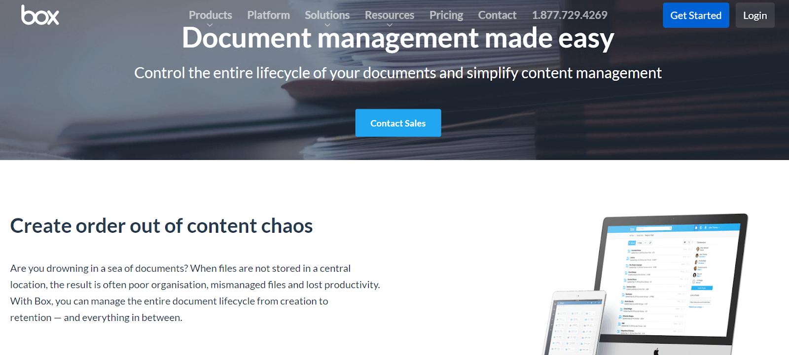 Box Document Management Software