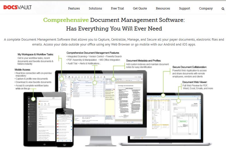Docsvault Document Management Software