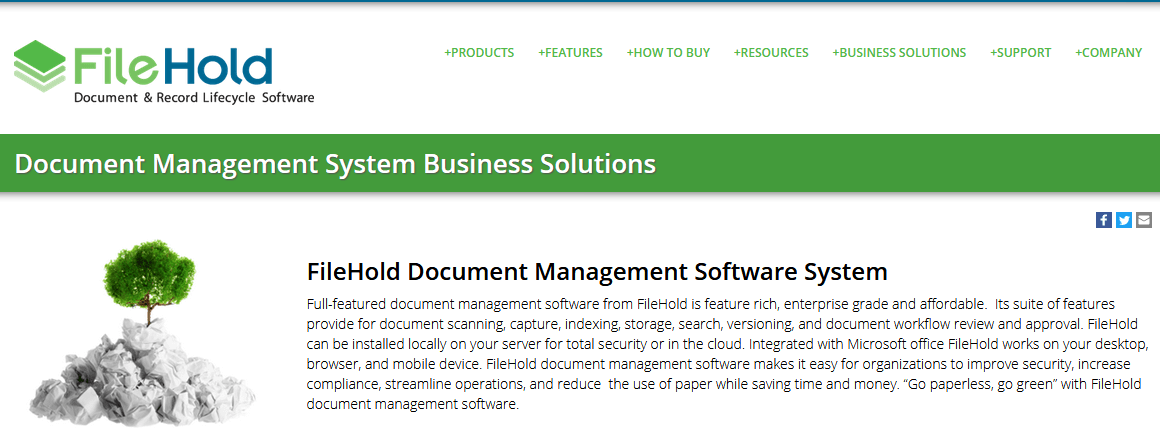 FileHold Document Management Software