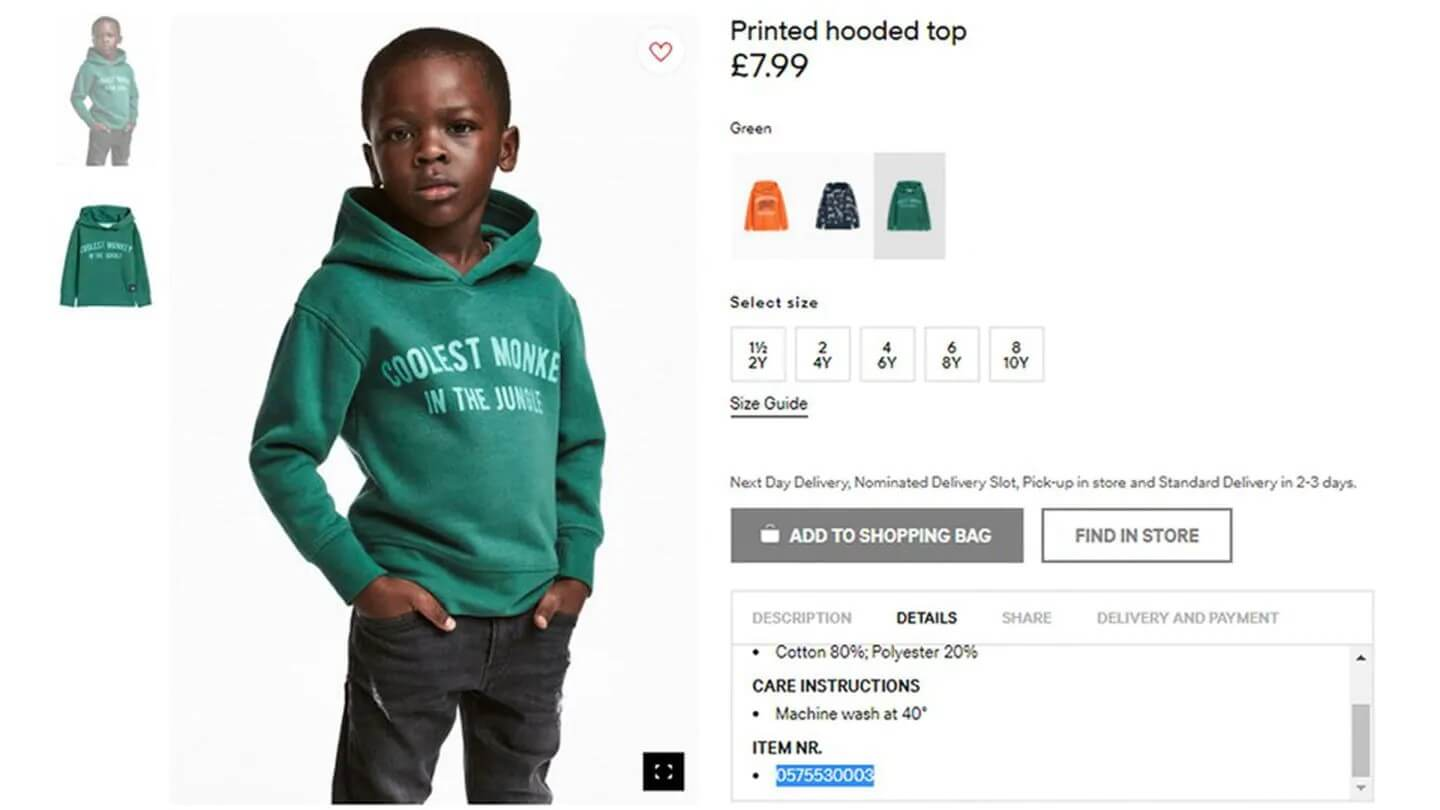 H&M products Multicultural Marketing