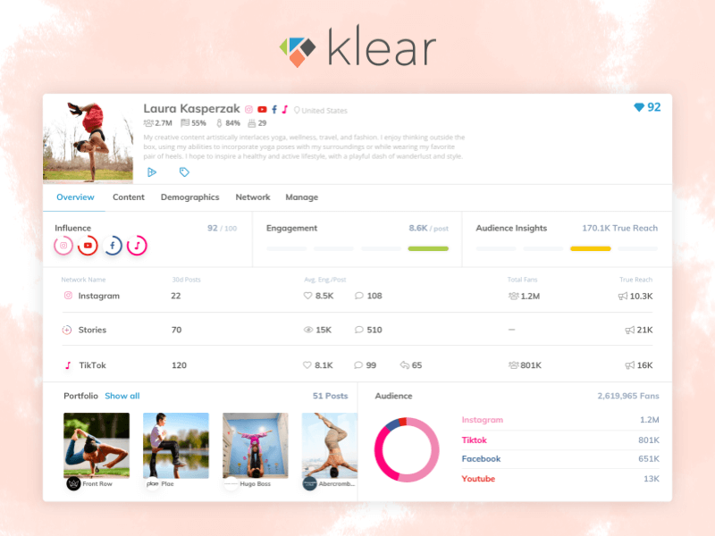 Klear Influencer Marketing Platform