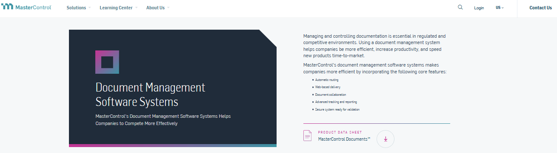 MasterControl Document Management Software