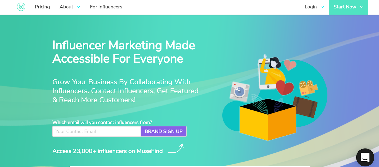 MuseFind Influencer Marketing Platform