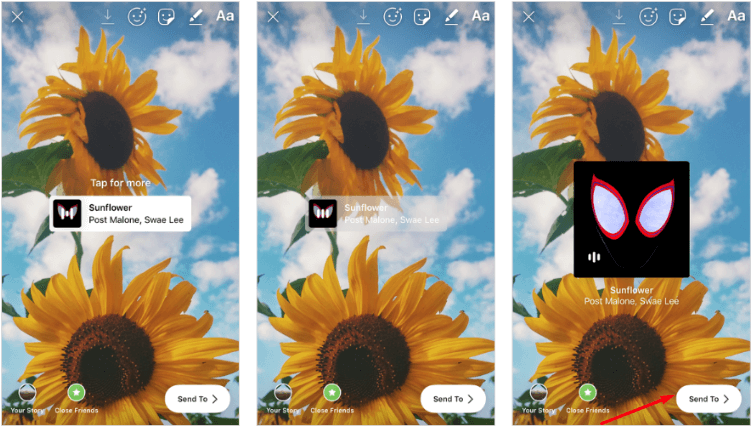 Publish the Instagram Story - Add Music to Your Instagram Story