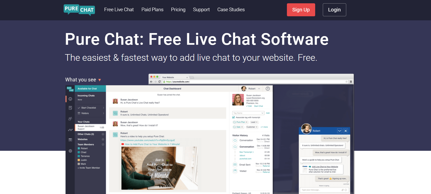 Pure Chat Olark Alternative