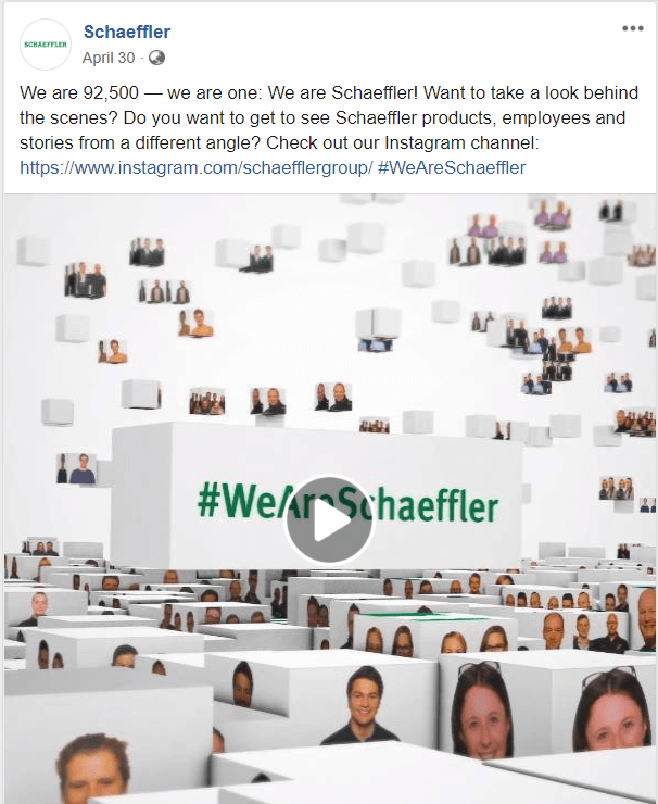 Schaeffler Group showed how to get more followers on instagram
