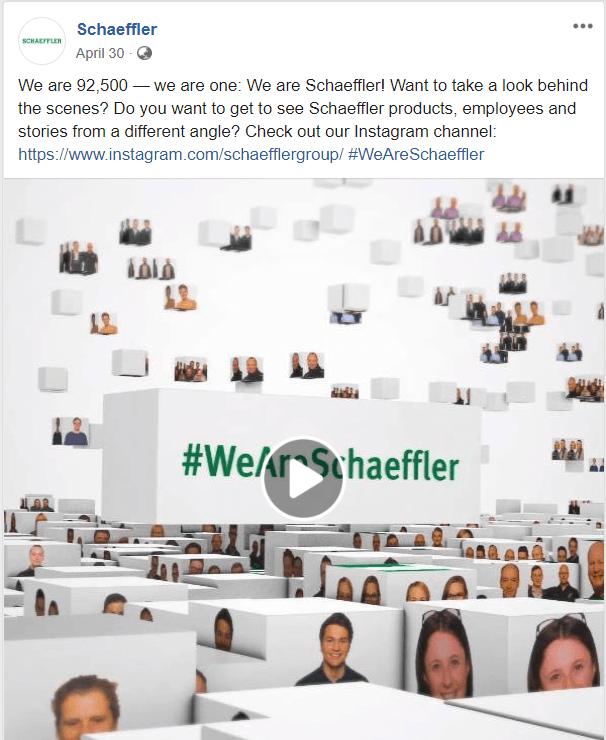 Schaeffler Group showed how to get more followers on instagram