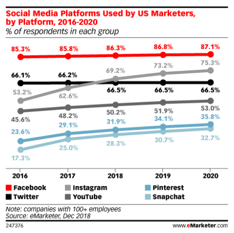 eMarketer report defined how to get followers on instagram
