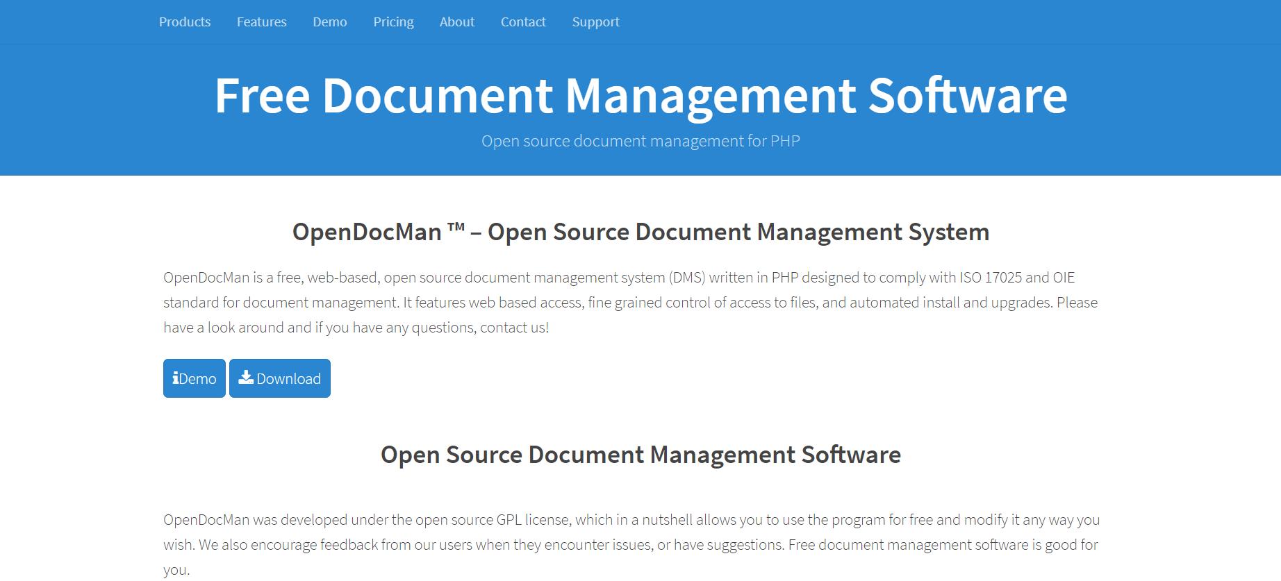 opendocman Document Management Software