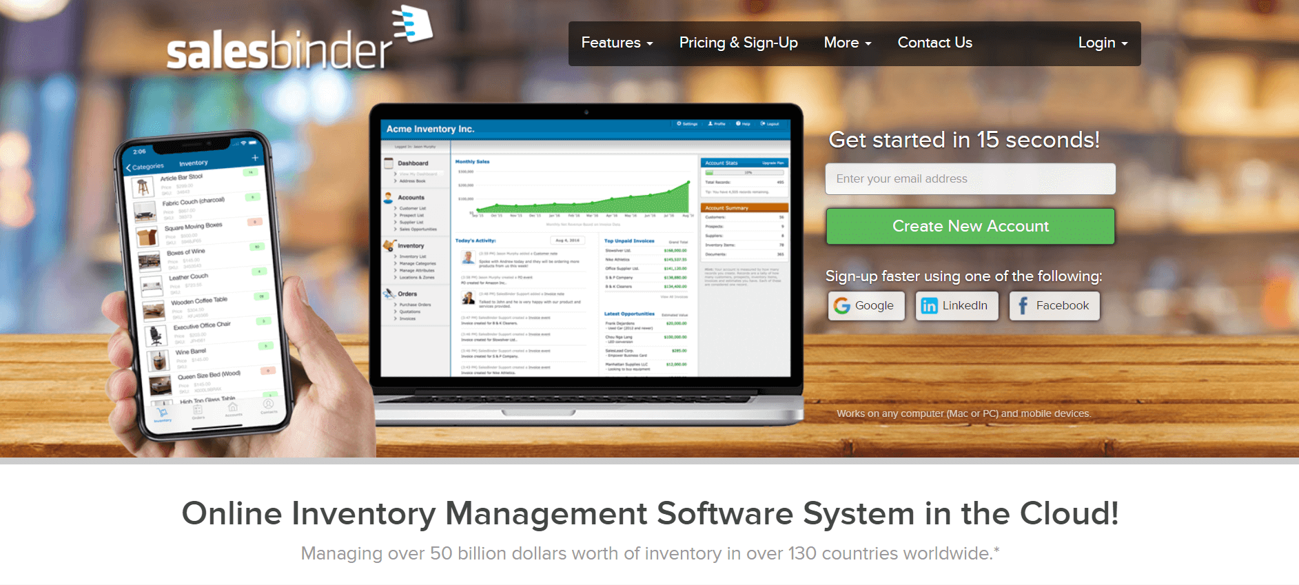 salesbinder inventory management software
