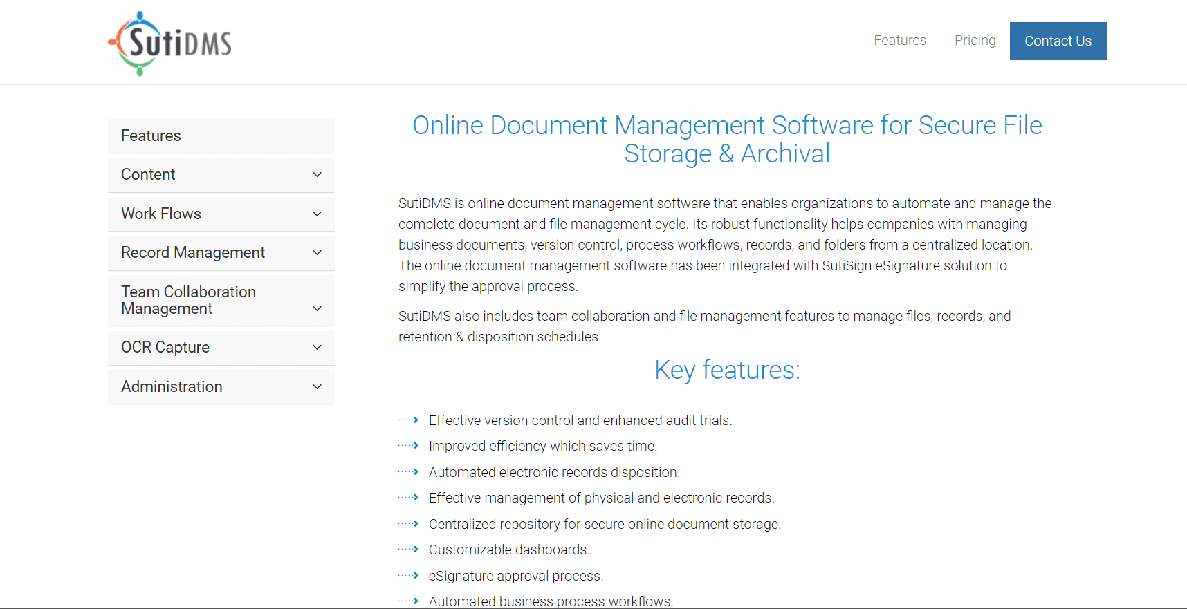 sutisoft Document Management Software