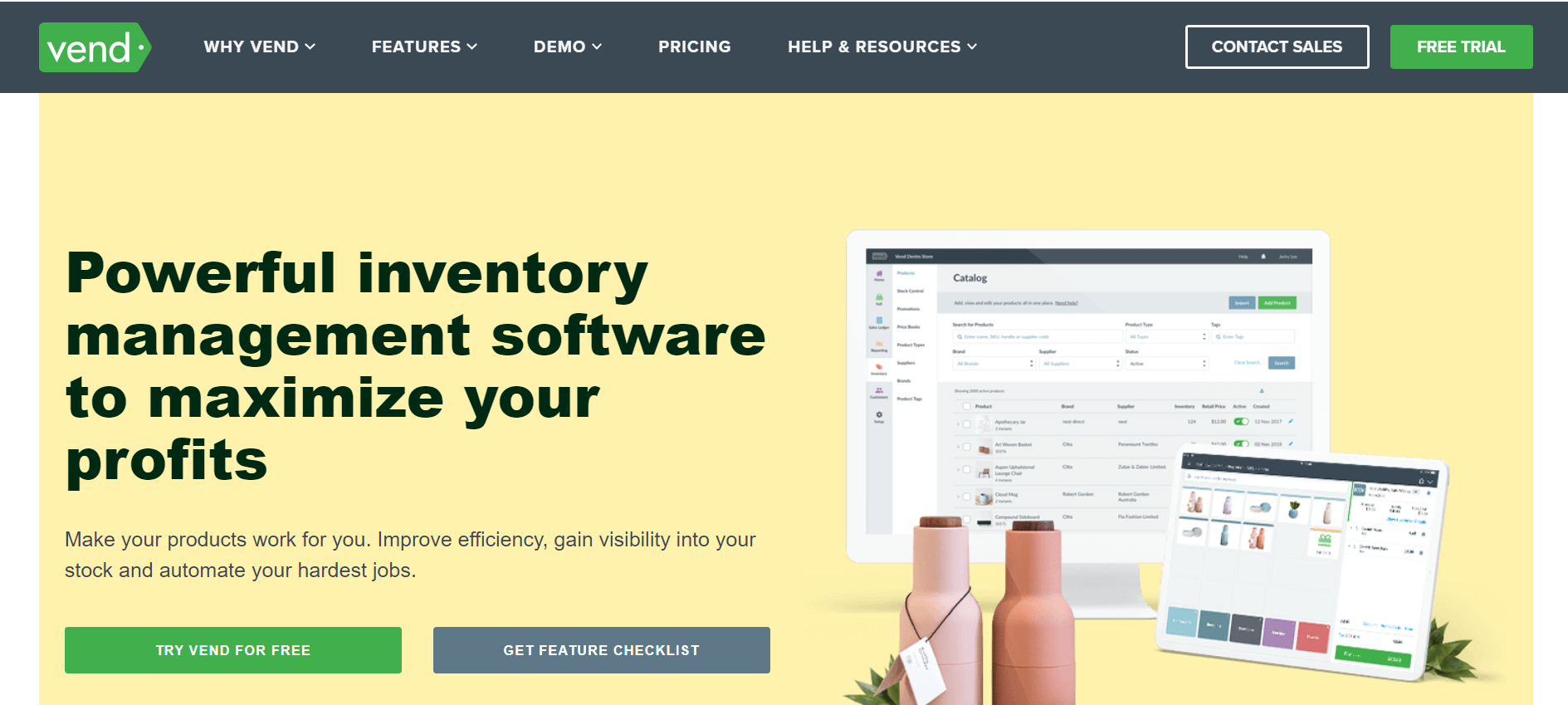 vendhq inventory management software