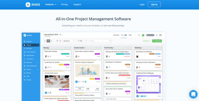 Avaza Project Management Tool