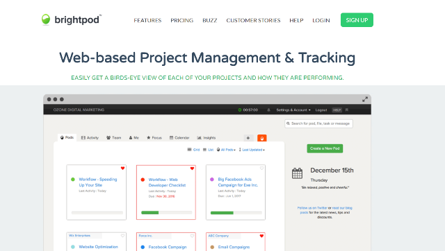 Brightpod Project Management Tool