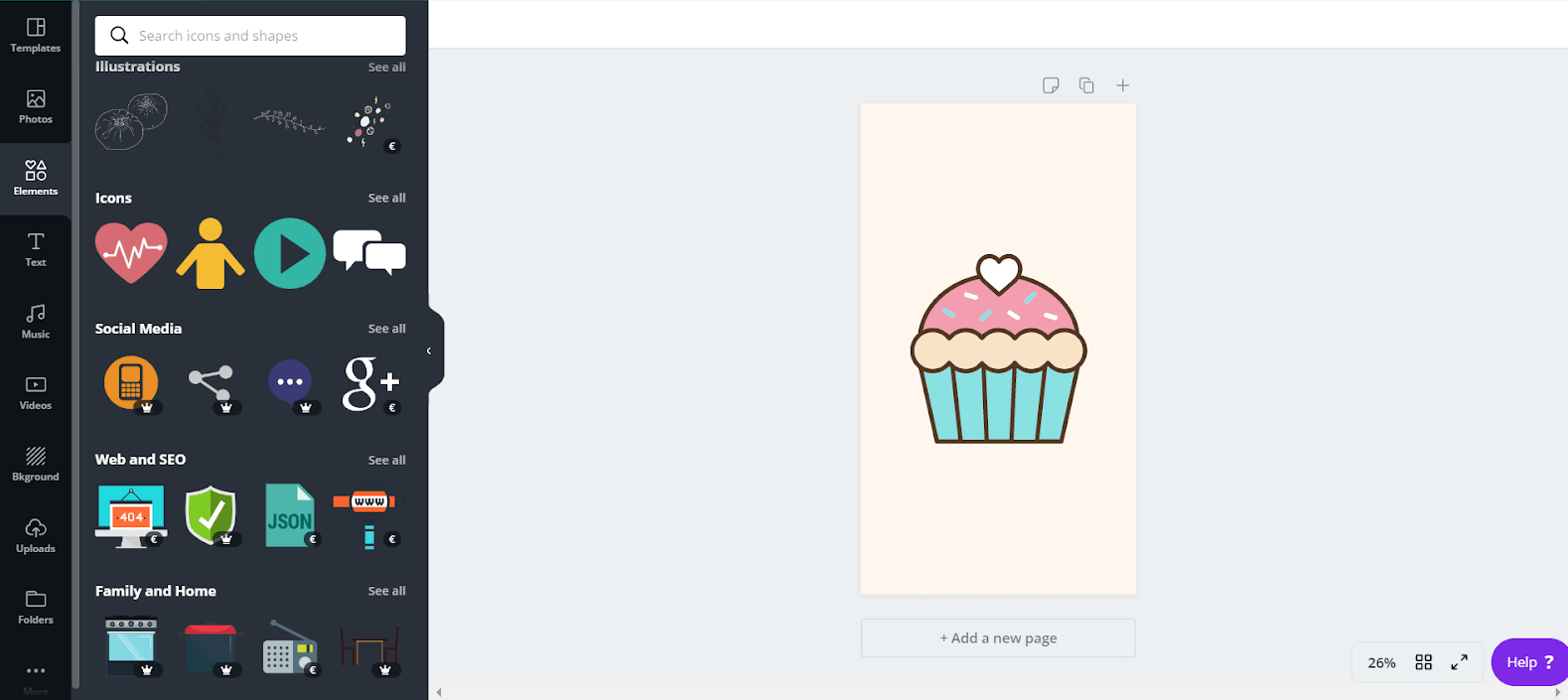 Create post on canva Instagram Highlight Covers