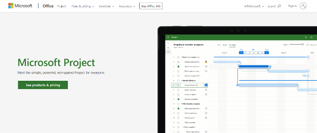 Microsoft Project Project Management Tool