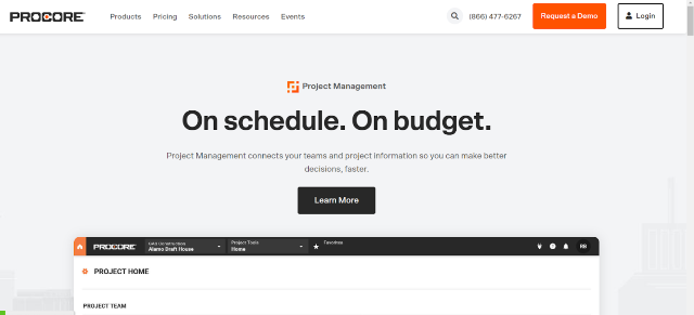 Procore Project Management Tool