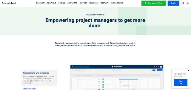 Smartsheet Project Management Tool