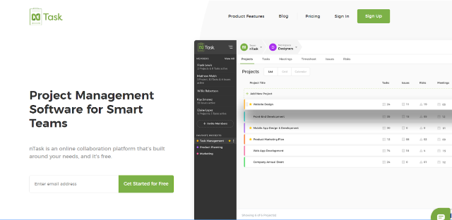nTask Project Management Tool