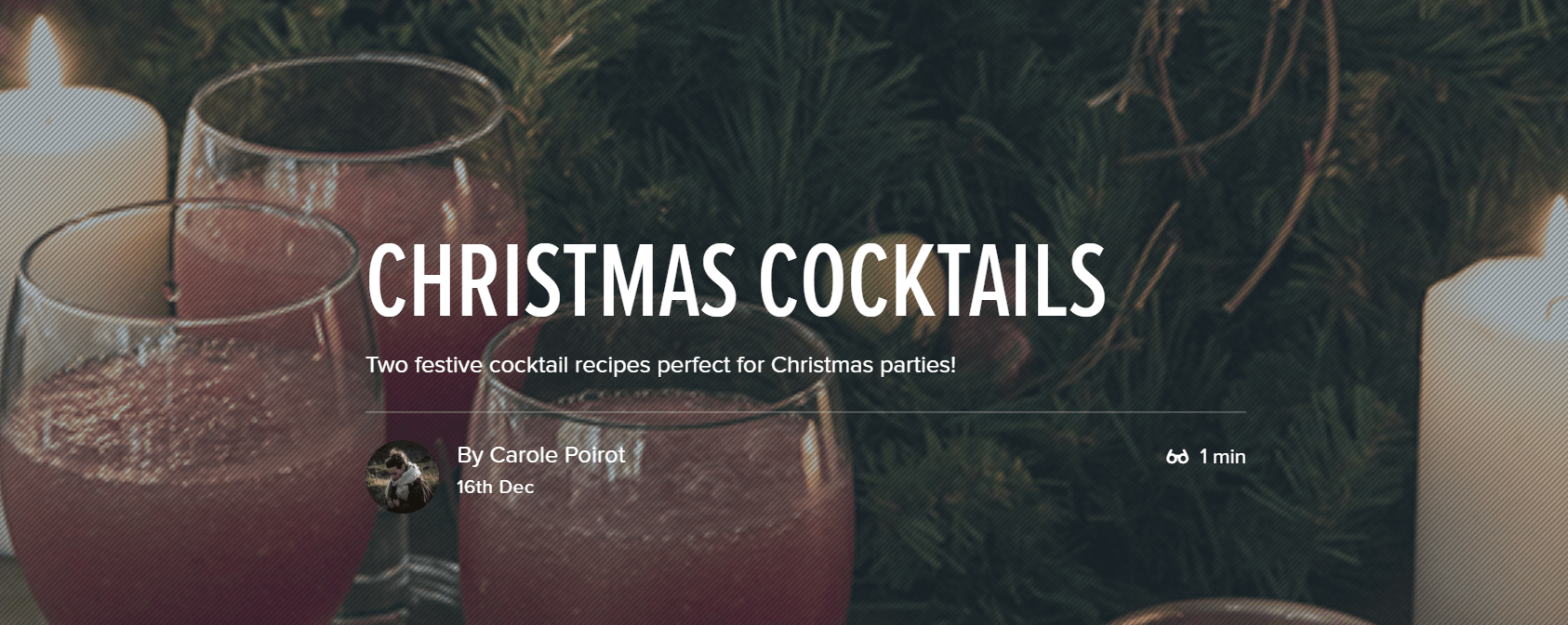 Christmas cocktail recipes Ecommerce Content Marketing Examples