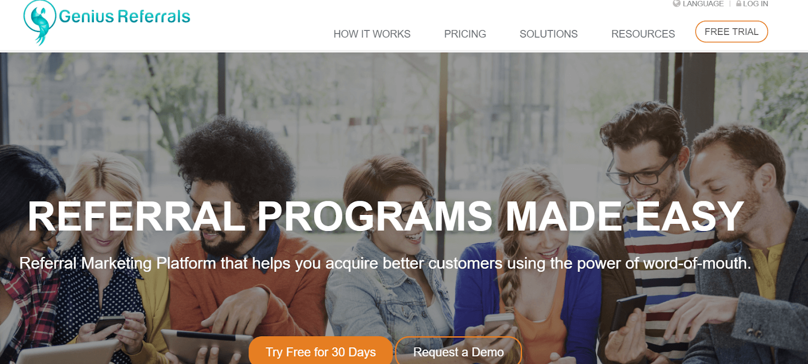 Genius Referrals Referral Marketing Software Tool
