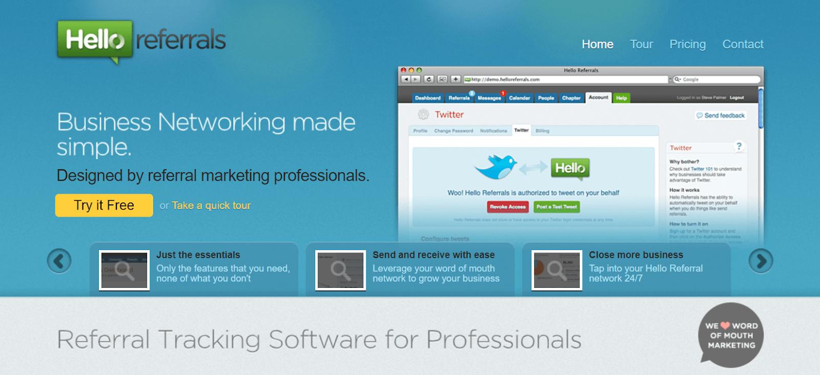 Hello Referrals Referral Marketing Software Tool