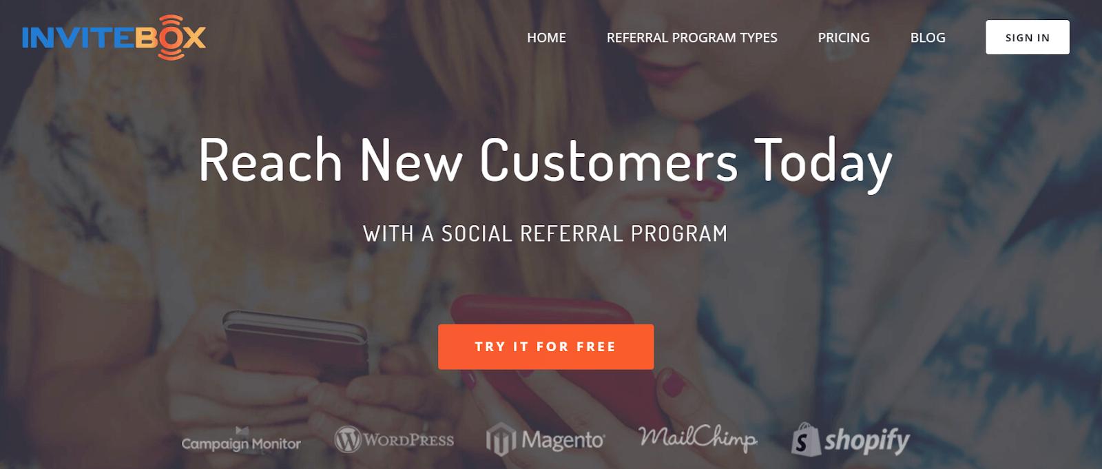 InviteBox Referral Marketing Software Tool