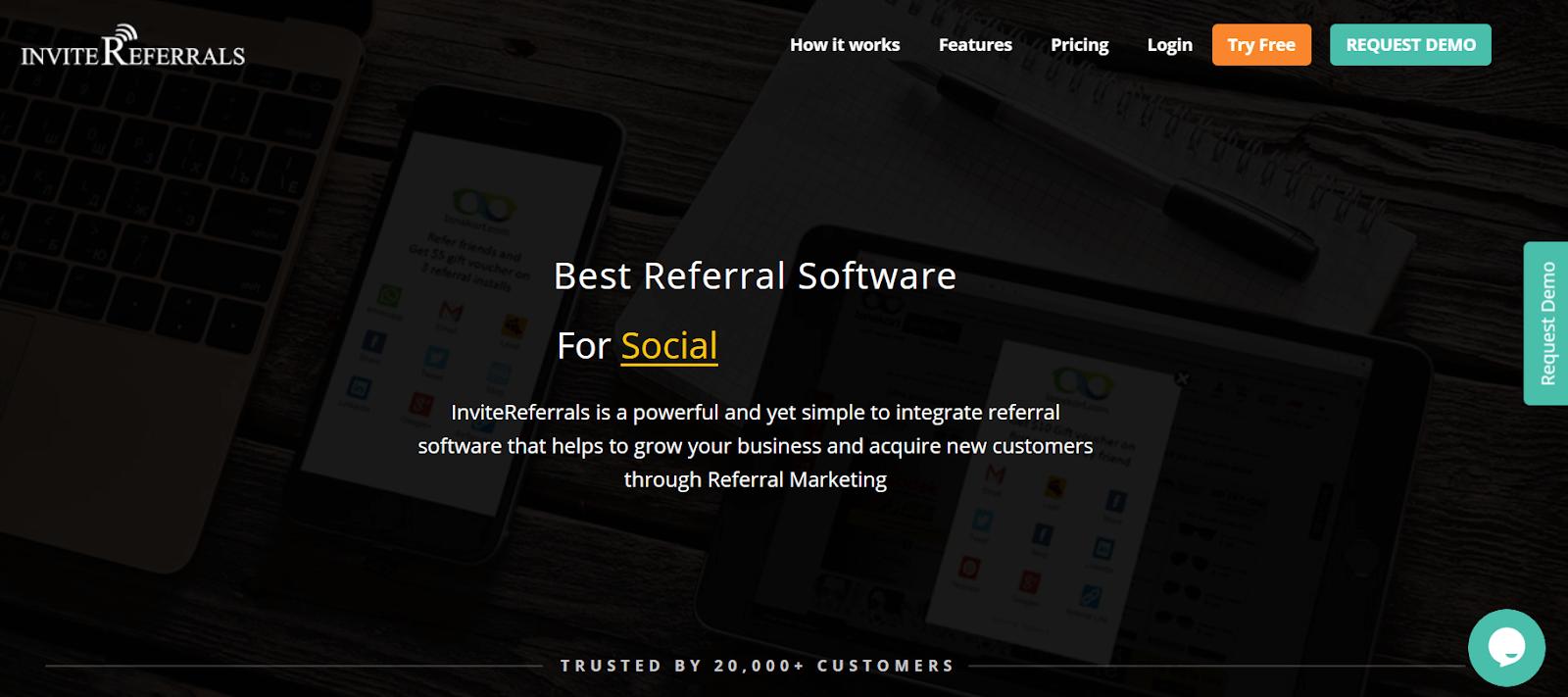 InviteReferrals Referral Marketing Software Tool